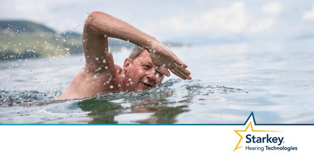 海や湖でよく泳ぐ方に多い外耳炎のイメージ