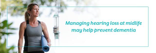 難聴に早めに対処することが重要なイメージ