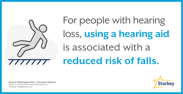補聴器は転倒リスクの減少に関連しています