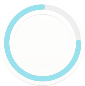 Circle filled with blue showing progress